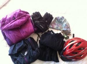 Winter biking gear