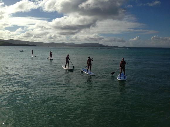 paddleboarding, caribbean, U.S.V.I.
