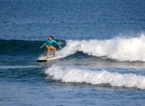 surfing costa rica, women
